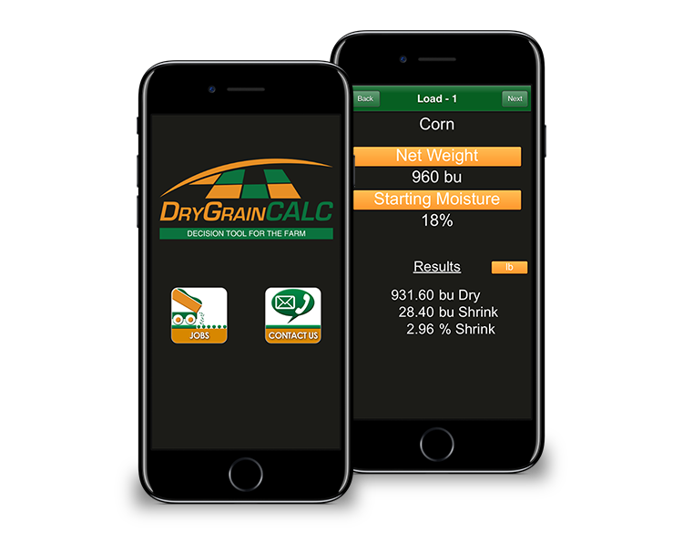 Dry Grain Calculator - Mobile App Farming Tool